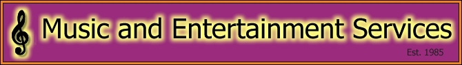 Music and Entertainment Services - Special Events, Weddings, Pub and Promotional Events